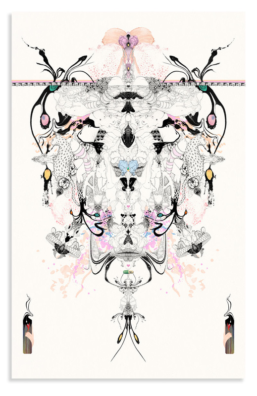 Mirrored suggestive image based on Rorschach Tests by Bourdon Brindille