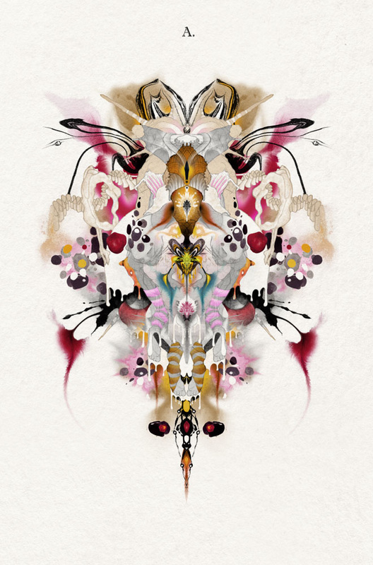 1st Rorschach image from Artwork called 'i-Test' by Bourdon Brindille