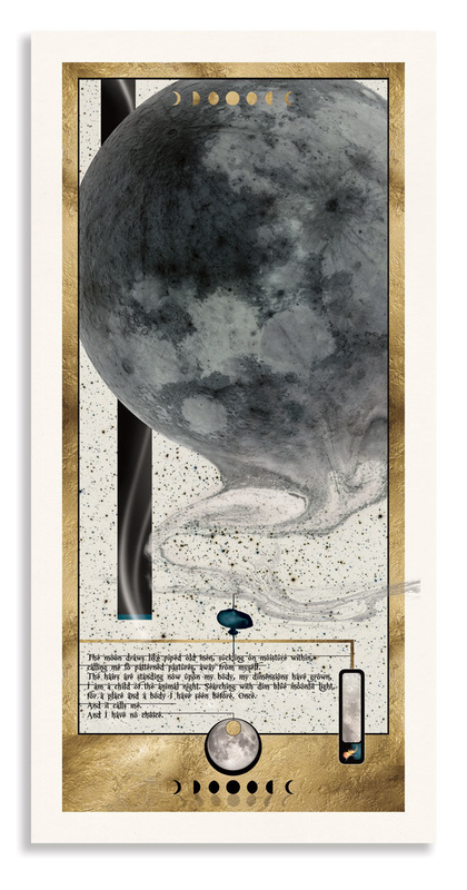 Poem and image about the Moon entitled 'It Calls Me' by Bourdon Brindille